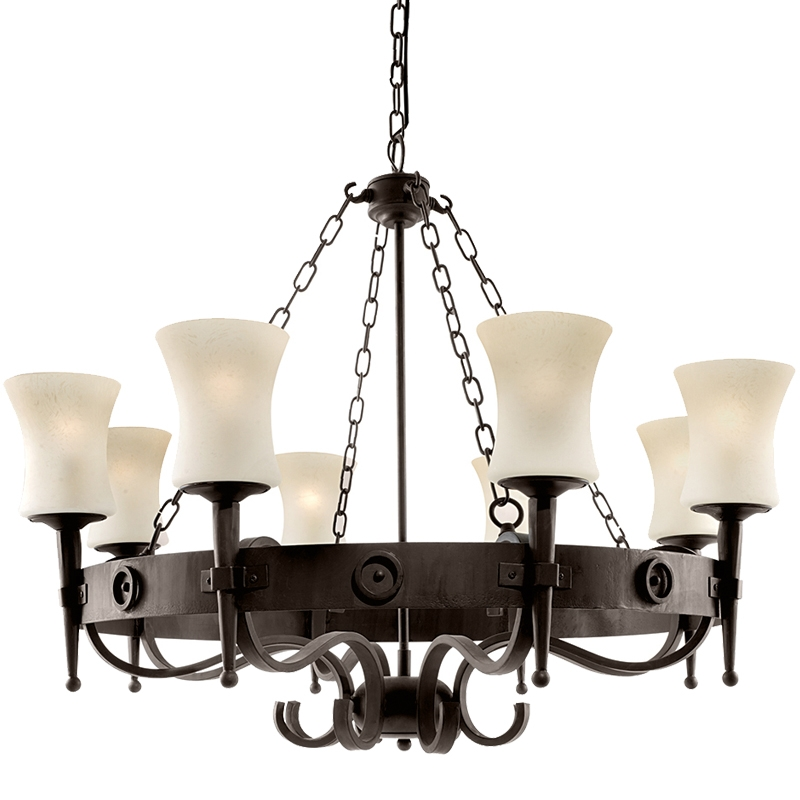 Excellent Unique Wrought Iron Light Fittings With Regard To Ironwork Ceiling Lights From Easy Lighting (View 14 of 25)