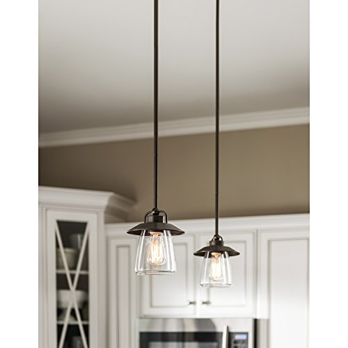 Excellent Variety Of Allen And Roth Pendants With Regard To Allen Roth Mission Bronze Edison Mini Pendant Light With Clear (Image 9 of 25)