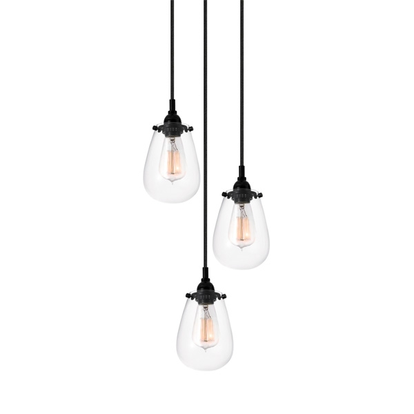 Excellent Well Known 3 Light Pendants Pertaining To Chelsea Multi Light Pendant Transitional Lighting Cluster Pendant (Image 12 of 25)