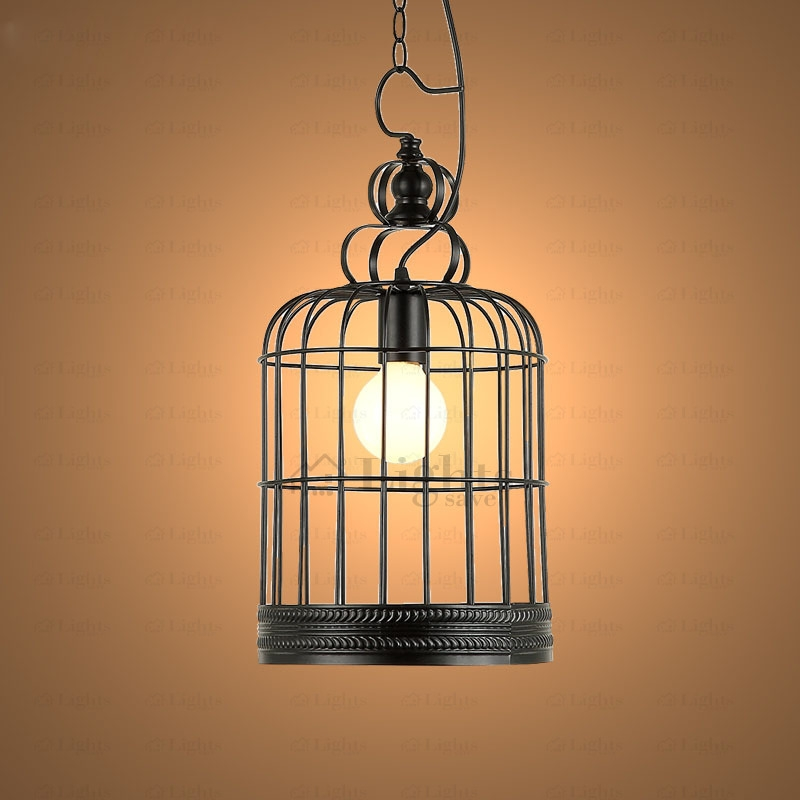 Excellent Wellknown Birdcage Pendant Lights Pertaining To Birdcage Vintage Large Pendant Lights Industrial Design Idea (Image 11 of 25)