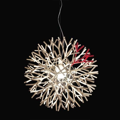 Excellent Wellknown Coral Replica Pendant Lights Within Replica Lagranja Coral Lamp Whitered (View 8 of 25)