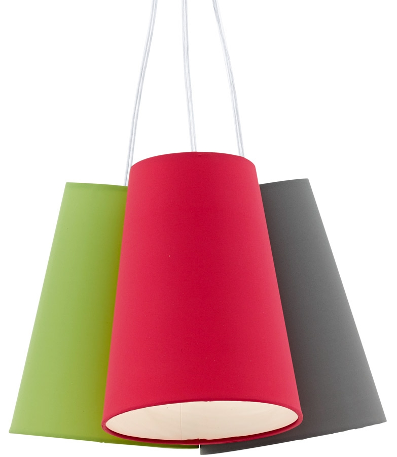 Excellent Well Known Multi Coloured Pendant Lights Regarding Modern Multi Coloured Cluster Ceiling Pendant Light  (Image 9 of 25)