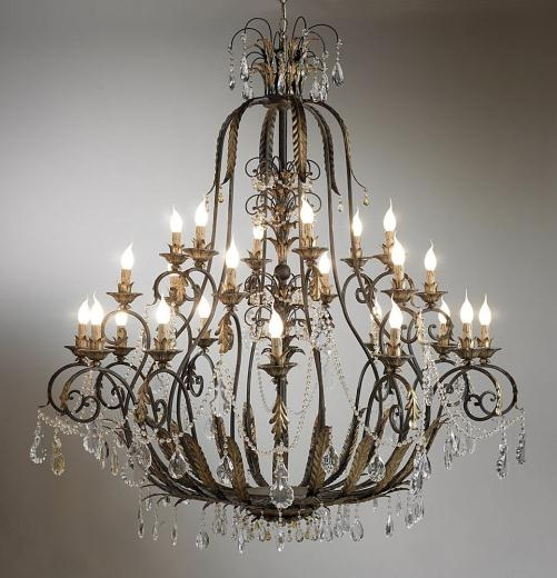 Excellent Wellknown Wrought Iron Lights Pertaining To Wrought Iron Chandeliers Unique Lotusep (Image 8 of 25)