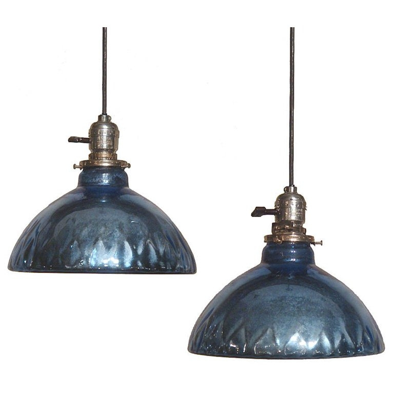 Excellent Wellliked Mercury Glass Pendant Lights With Blue Mercury Glass Pendant Lights At 1stdibs (View 11 of 25)