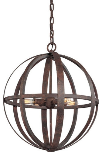 Excellent Wellliked Wrought Iron Pendant Lights Pertaining To Troy Lighting F2514 Flatiron 4 Light Wrought Iron Pendant (Image 6 of 25)