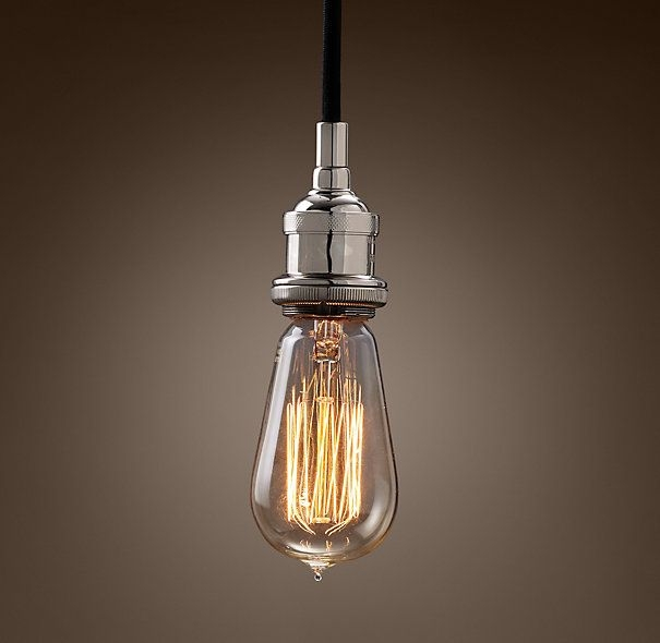 Excellent Widely Used Bare Bulb Filament Single Pendants Throughout 107 Best Light Bulb Images On Pinterest (View 1 of 25)