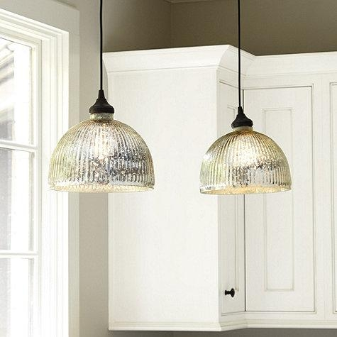 Excellent Widely Used Mercury Glass Pendant Lights Intended For Silver Glass Shade (Image 8 of 25)