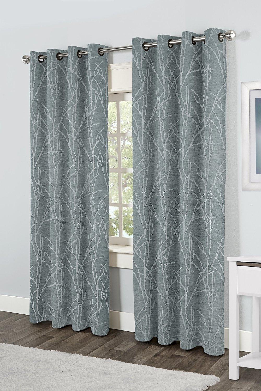 Exclusive Home Finesse Grommet Top Window Curtain Panels Steel Regarding Linen Grommet Curtains (Image 7 of 25)