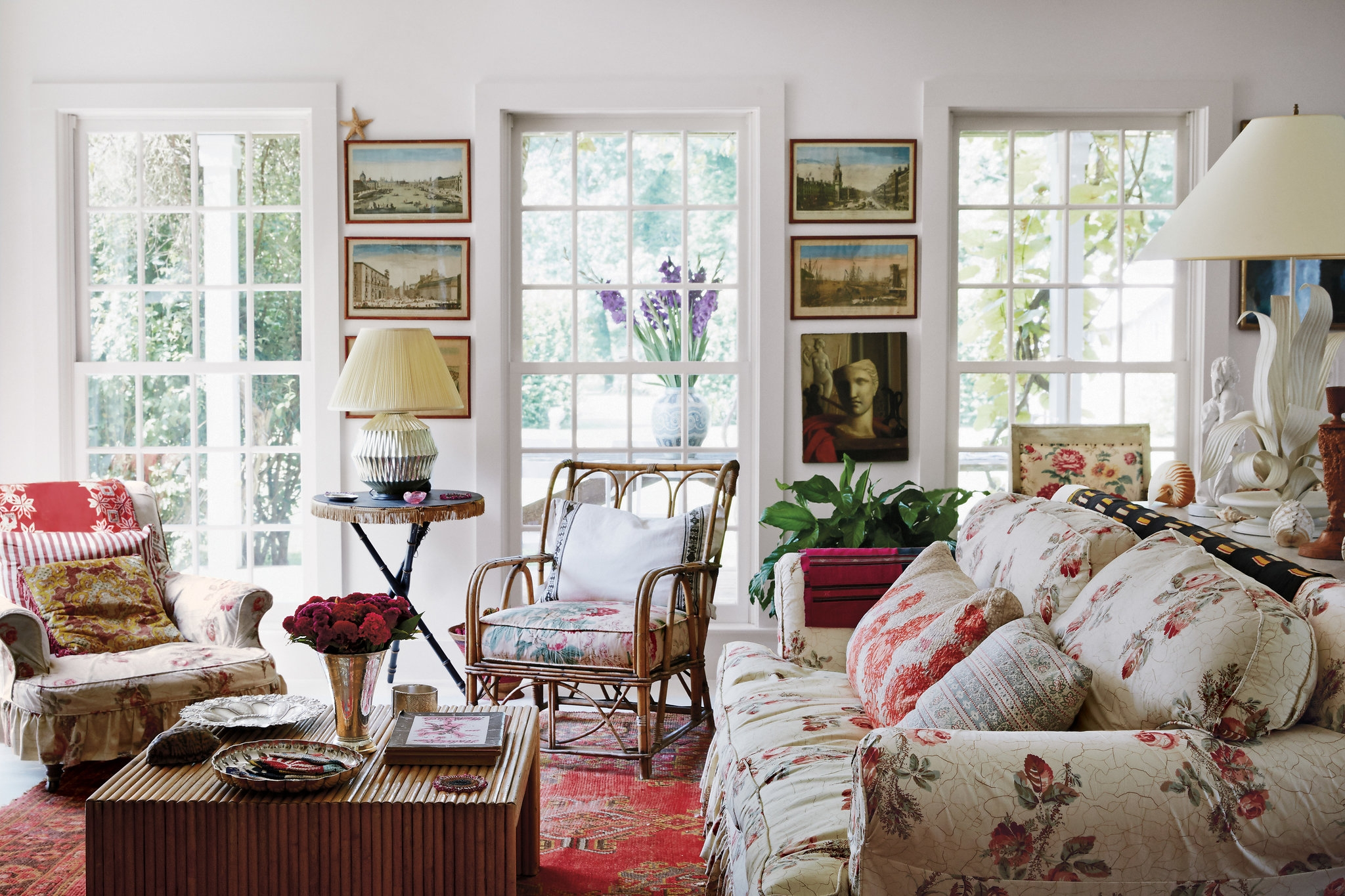 Exquisite Pleasures The Living Room With A Sofa And Armchairs Intended For Chintz Covered Sofas (Image 5 of 15)