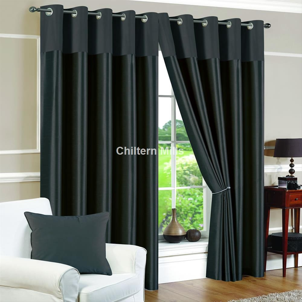 Eyelet Curtains Cheap 66×90 And 90×90 Eyelet Curtains In Grey Eyelet Curtains (Image 8 of 25)