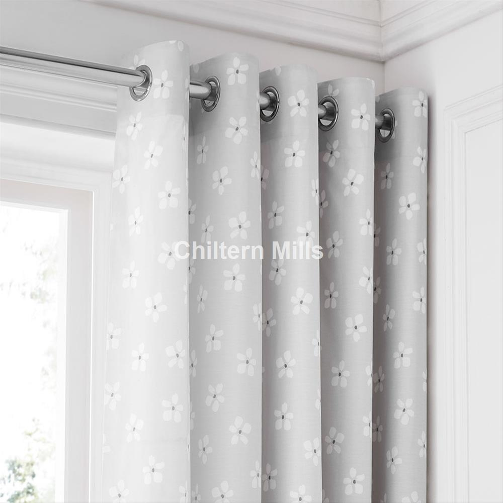 Eyelet Curtains Cheap 66×90 And 90×90 Eyelet Curtains Pertaining To Grey Eyelet Curtains (Image 9 of 25)