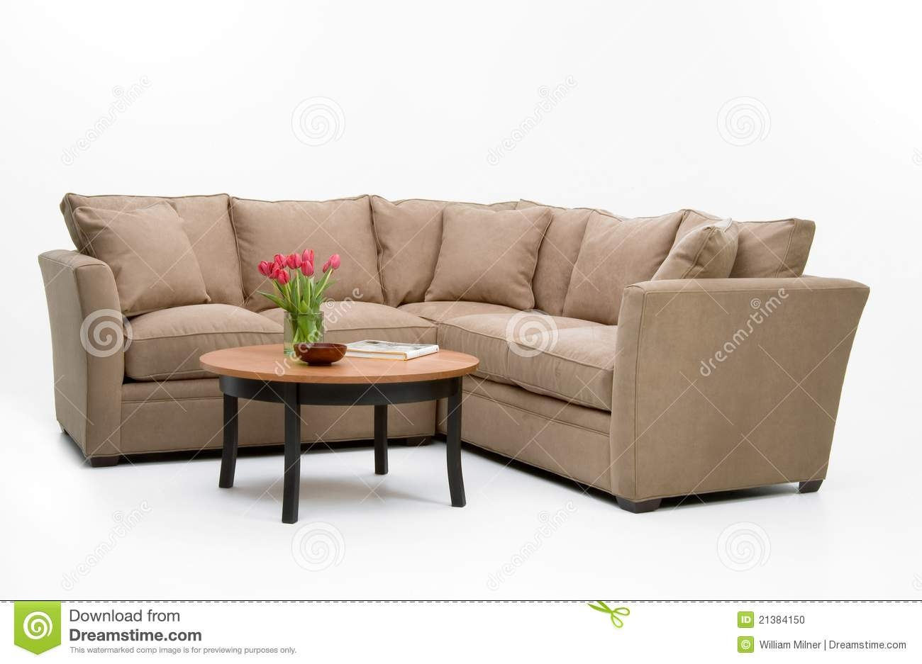 Fabric Sofa Set Table Stock Photo Image 21384150 Regarding Sofa Table With Chairs (Image 4 of 15)