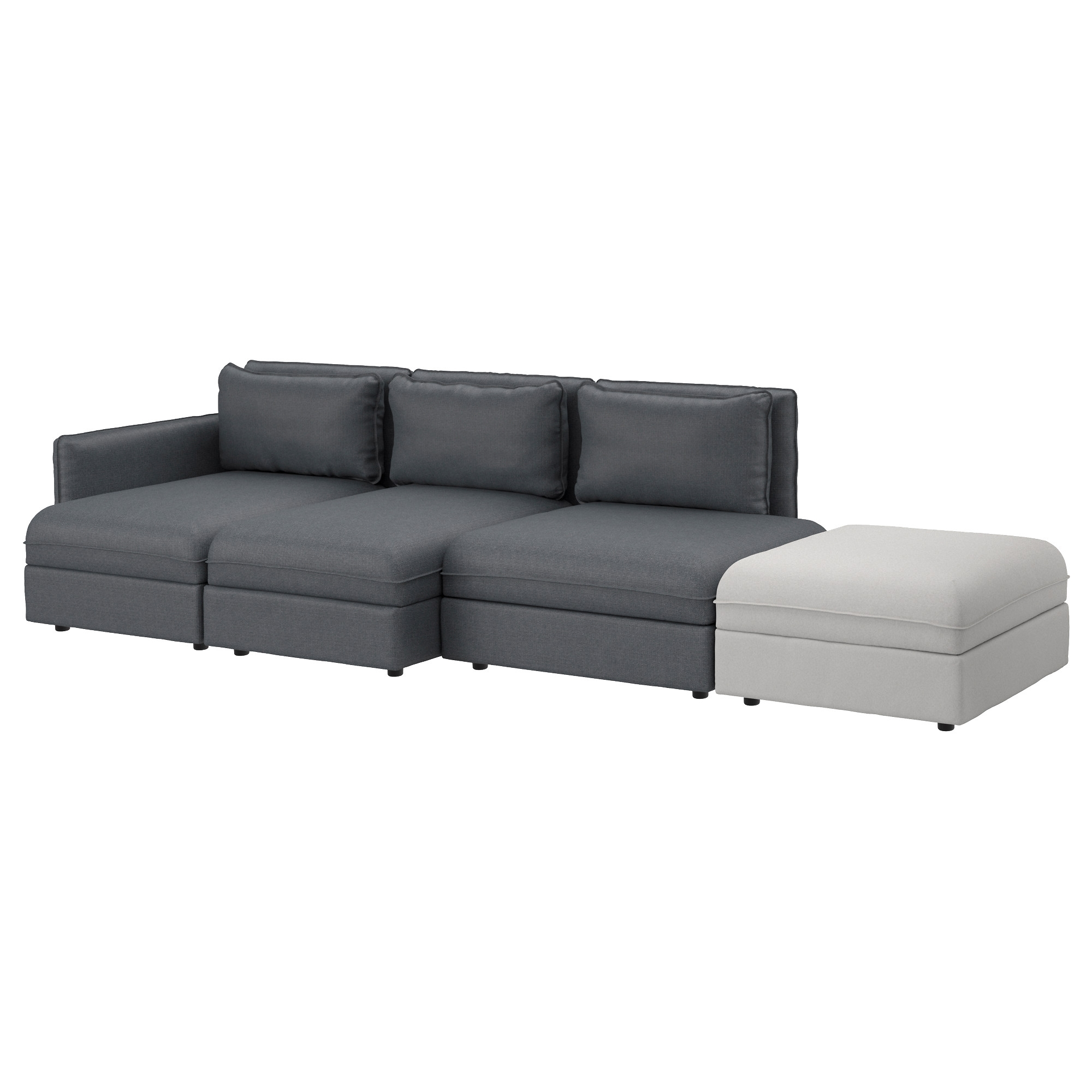 Fabric Sofas Modern Contemporary Ikea Within 4 Seater Couch (Image 6 of 15)