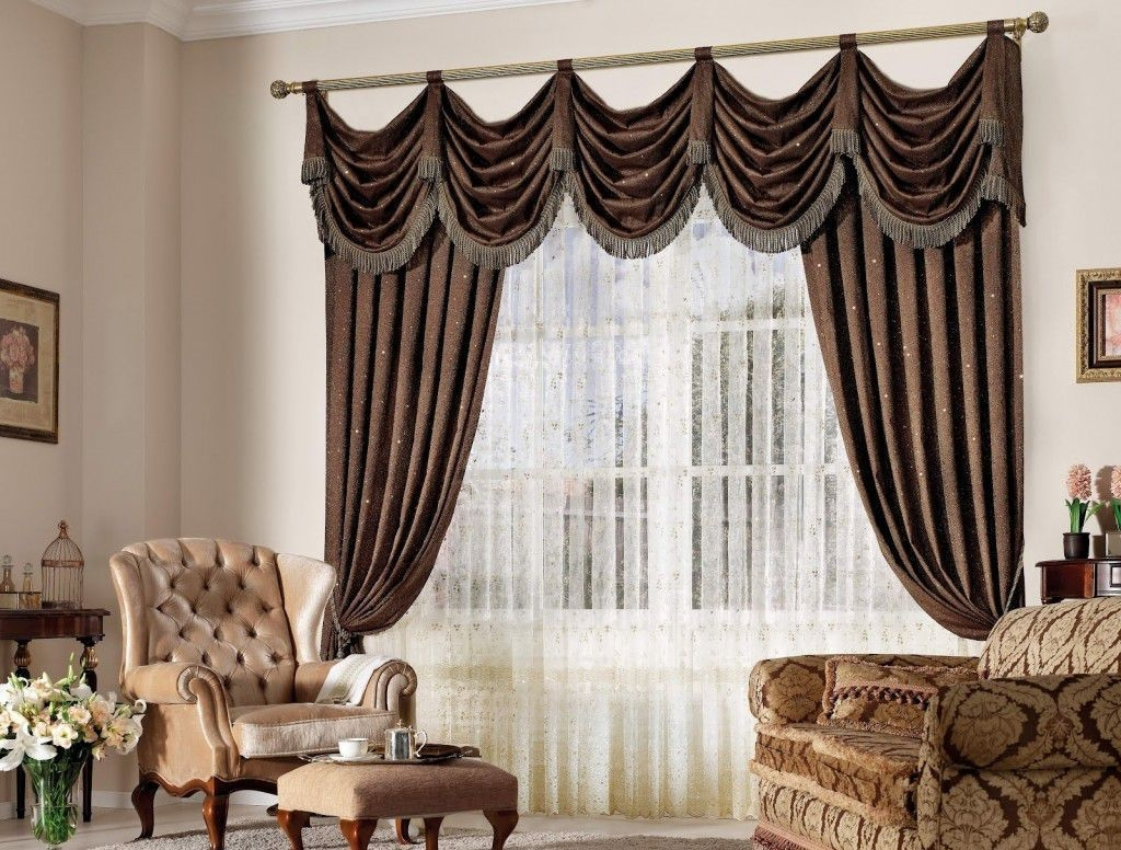 Fancy Design Living Room Window Curtain Styles Red Color Curtains With Regard To Peach Colored Curtains (Image 13 of 25)