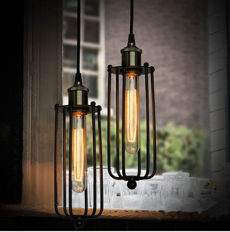 Fantastic Best Latest Pendant Lights Regarding Edison Hanging Lights Vintage Rustic Metal Lampshade Edison (View 9 of 25)