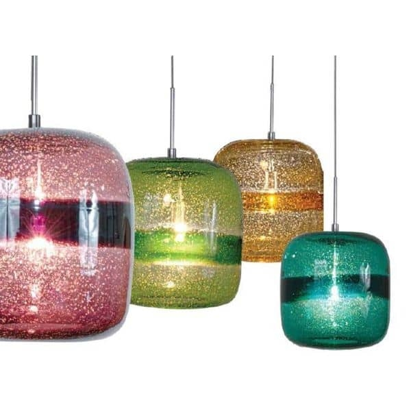 Fantastic Common Blown Glass Mini Pendant Lights Regarding Jesco 1 Light Hand Blown Glass Mini Pendant Kit Free Shipping (Image 6 of 25)