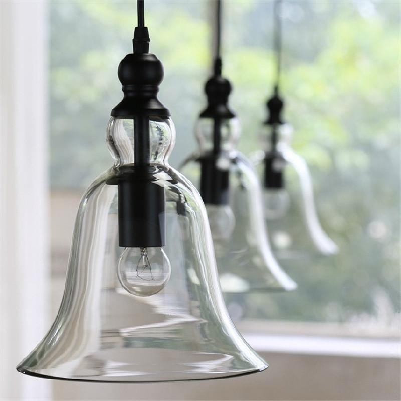 Fantastic Common Glass Pendant Ceiling Lights With New Antique Vintage Style Glass Shade Ceiling Light Bell Pendant (Image 10 of 25)