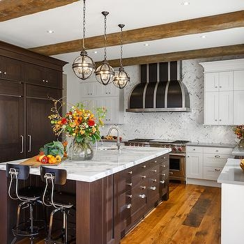 Fantastic Deluxe Victorian Hotel Pendants Intended For Kitchen With Full Height Backsplash Transitional Kitchen (Image 8 of 25)