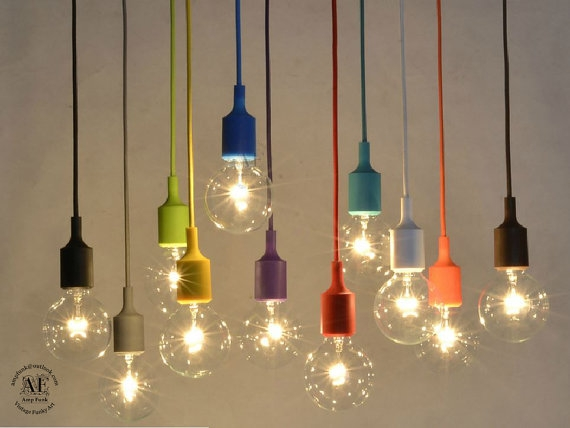 Fantastic Elite Bare Bulb Pendant Lighting In Color Custom Pendant Lighting Bare Bulb Edison Lamp Modern (Image 6 of 25)