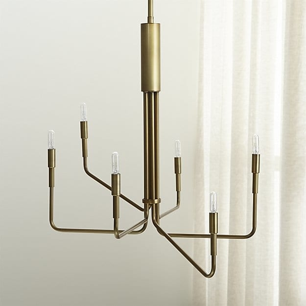 Fantastic Elite Crate And Barrel Pendants With Clive Brass 6 Arm Chandelier Crate And Barrel (Image 11 of 25)