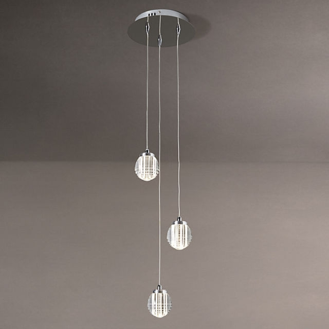 Fantastic Elite John Lewis Cluster Lights Within John Lewis Sylvester 3 Led Pendant Stripe Cluster Ceiling Light (Image 10 of 25)