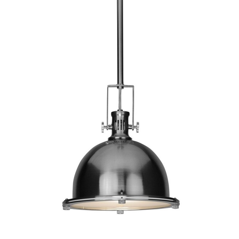 Fantastic Famous Stainless Steel Pendant Lights Pertaining To Kitchen Lighting Accessories Using Vintage Nautical Dome Stainless (Image 7 of 25)