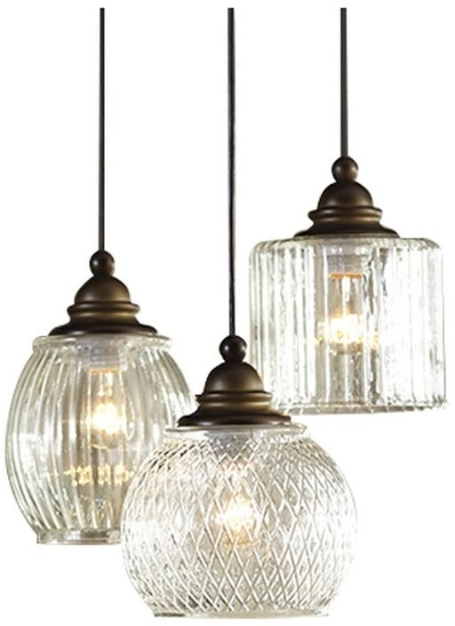 Fantastic Fashionable Allen And Roth Pendants With Allen Roth Cardington Aged Bronze Craftsman Multi Light Glass (View 17 of 25)