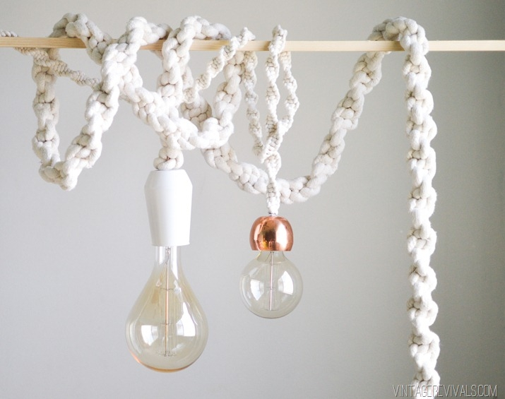 Fantastic Favorite Macrame Pendant Lights With Giant Macram Rope Lights Vintage Revivals (Image 8 of 25)