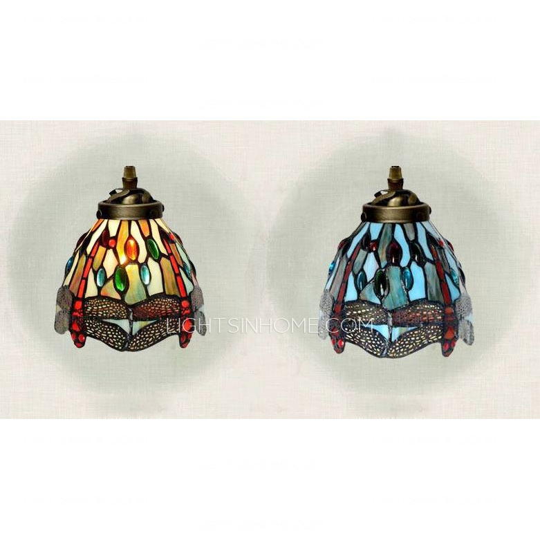 Fantastic Favorite Stained Glass Pendant Light Patterns Inside Dragonfly Pattern Stained Glass Tiffany Pendant Lights Kitchen (View 13 of 25)