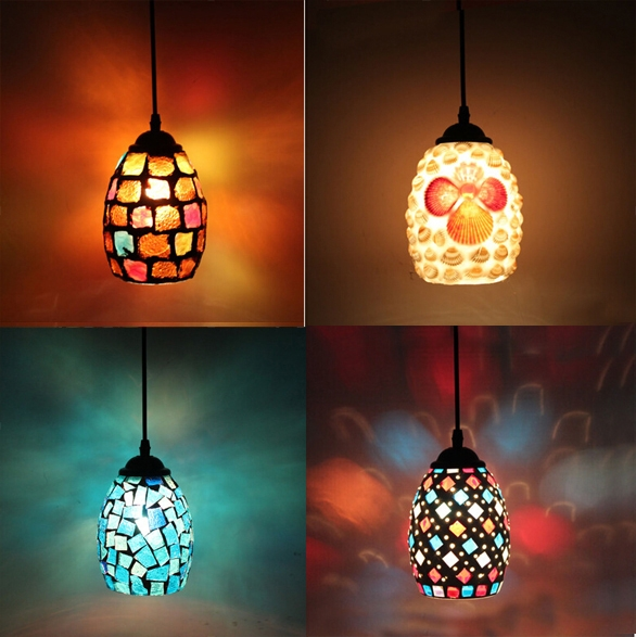 Fantastic High Quality Shell Light Shades Pendants With Regard To Online Get Cheap Mosaic Light Shade Aliexpress Alibaba Group (View 14 of 25)