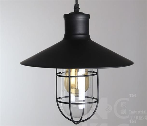 Fantastic High Quality Wrought Iron Pendant Lights Throughout Black Industrial Type One Light Wrought Iron Pendant Lights (Image 7 of 25)