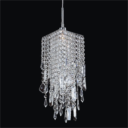 Fantastic Latest Black Pendant Light With Crystals Intended For Crystal Mini Pendant Lighting Bellacor (Image 7 of 25)