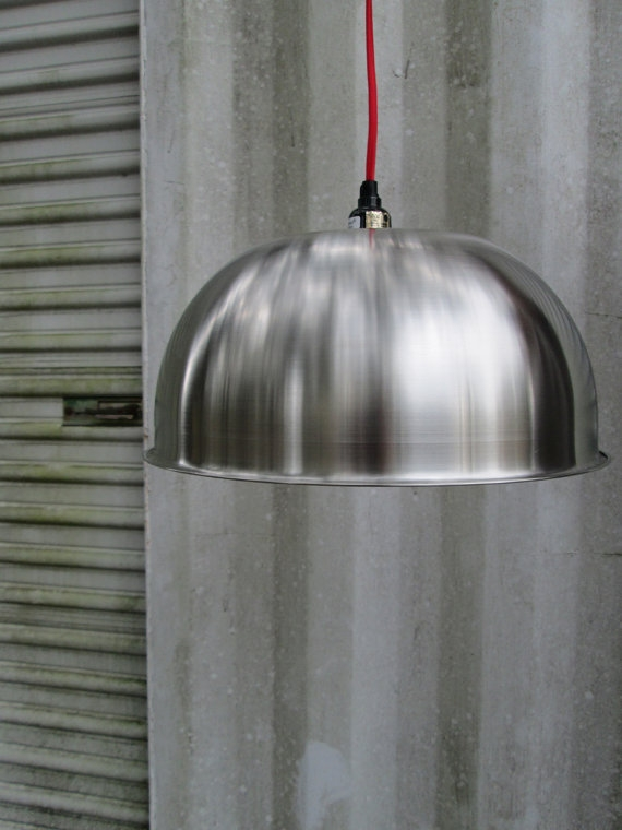 Fantastic New Stainless Steel Pendant Lights Throughout Minimal Modern Pendant Lighting Stainless Steel Re Purposed (Image 9 of 25)
