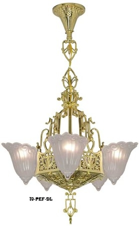 Fantastic Popular Fleur De Lis Light Fixtures Pertaining To Vintage Hardware Lighting Art Deco And Art Nouveau Lighting (Image 10 of 25)