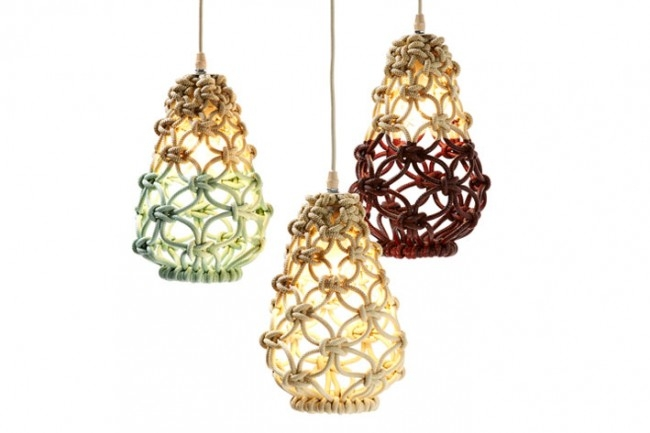 Fantastic Popular Macrame Pendant Lights With Macrame Pendant Lights Three Collections Sarah Parkes (Image 10 of 25)