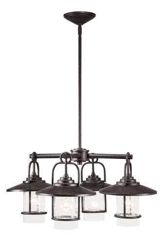Fantastic Popular Patriot Lighting Pendants With Regard To Patriot Lighting Elegant Home Miner Bronze 4 Light Chandelier (Image 11 of 25)