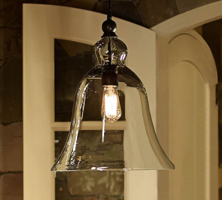 Fantastic Preferred Rustic Light Pendants Regarding Rustic Glass Lighting Pottery Barn (View 10 of 25)