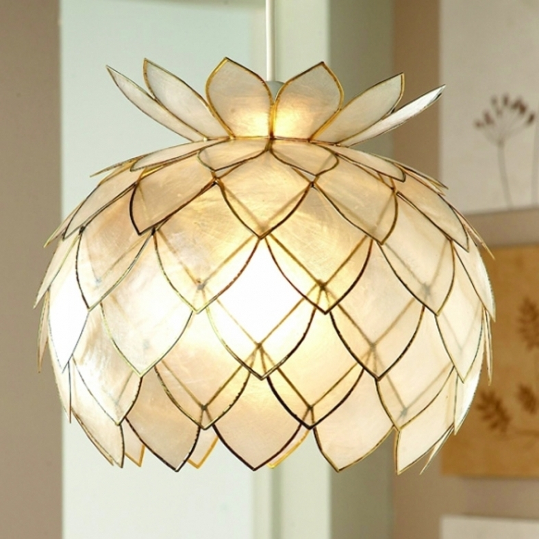 Fantastic Series Of Shell Light Shades Intended For Shell Ceiling Light Shades Ceiling Lights Designs And Ideas (View 21 of 25)