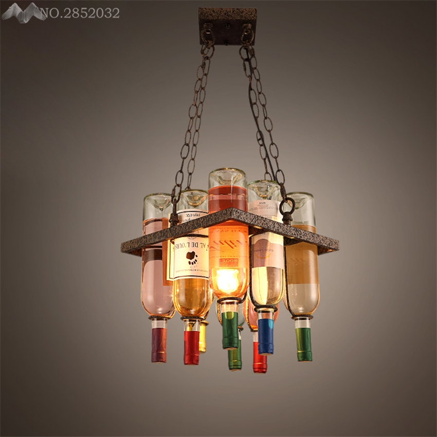 Fantastic Series Of Wine Bottle Pendant Light Throughout Online Get Cheap Wine Bottle Pendant Lights Aliexpress (Image 8 of 25)