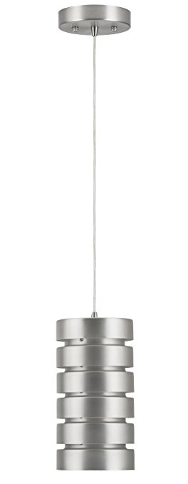 Fantastic Top Brushed Stainless Steel Pendant Lights Throughout Linea Di Liara Macchione One Light Industrial Pendant Lamp (View 16 of 25)