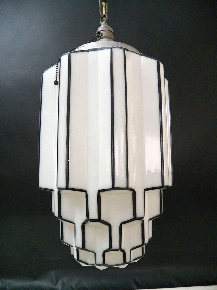 Fantastic Top Milk Glass Pendant Light Fixtures With 7 Best Art Deco Light Fixtures Images On Pinterest (View 10 of 25)