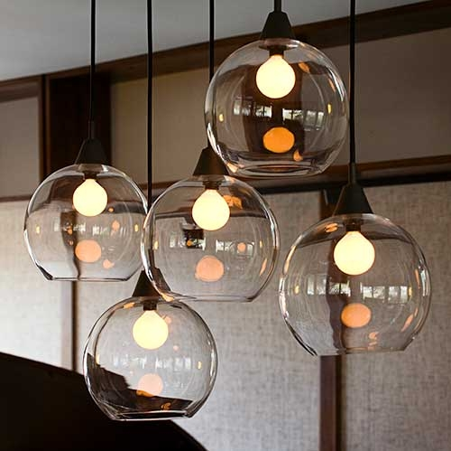 Fantastic Trendy Cb2 Light Fixtures Throughout Classy Glass Lights Must Try This With A Fish Bowl Light (Image 9 of 25)