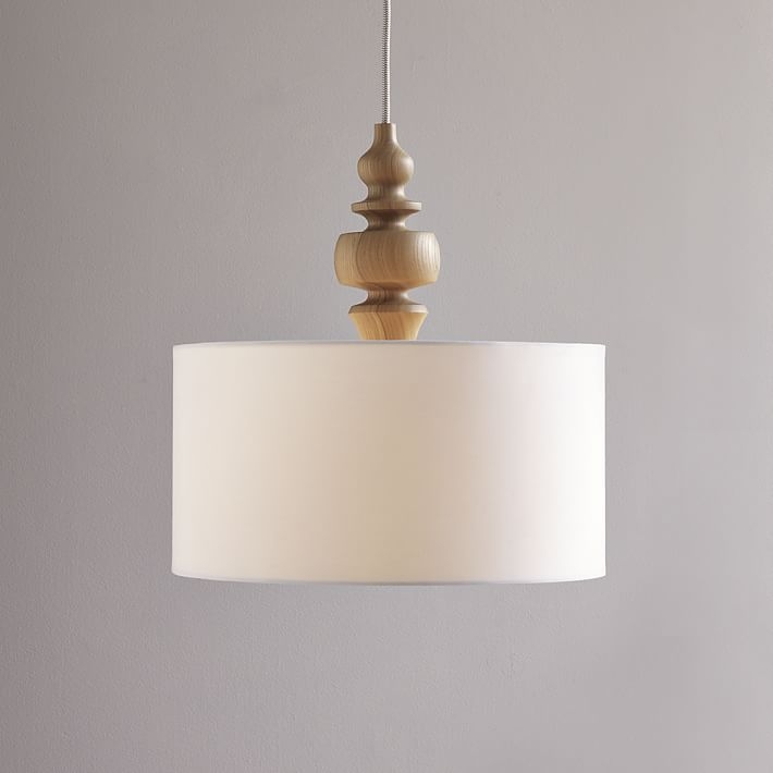 Fantastic Trendy West Elm Drum Pendants For Turning Pendant Woodwhite West Elm (Image 10 of 25)