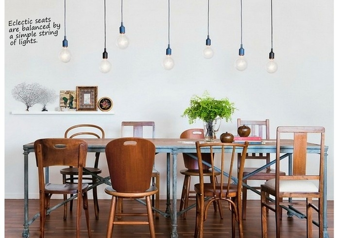 Fantastic Variety Of Bare Bulb Pendants Within Exposed Bulb Lighting In Interiors Design Lovers Blog (Image 7 of 25)