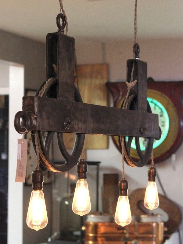Fantastic Variety Of Double Pulley Pendant Lights For Best 25 Pulley Light Ideas On Pinterest Pulley Vintage (Image 7 of 25)