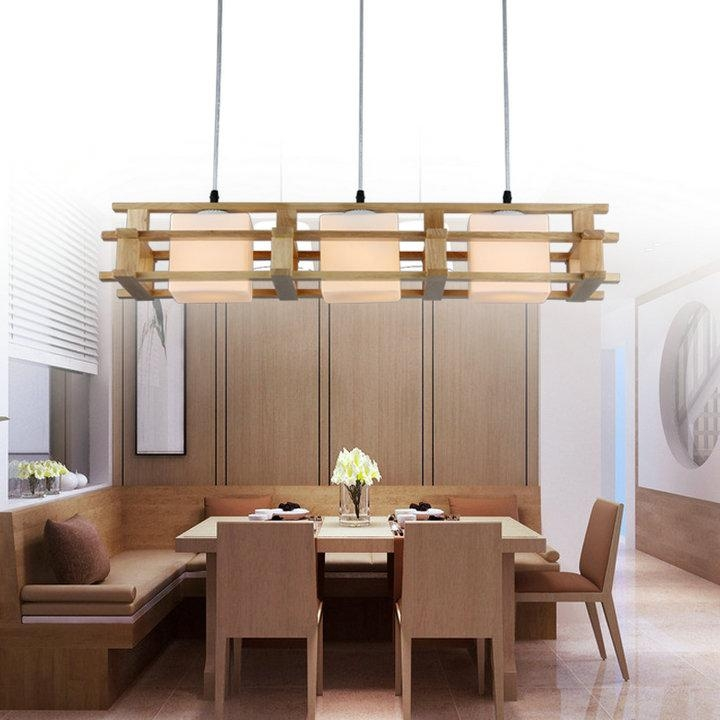 Fantastic Variety Of Wooden Pendant Lights For With Led Bulb 3light1light Wood Pendant Lamp Wood Restaurant (Image 10 of 25)