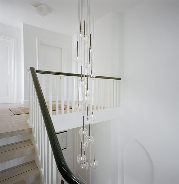 Fantastic Well Known Stairwell Lighting Pendants With Regard To Modern Staircase (Image 11 of 25)