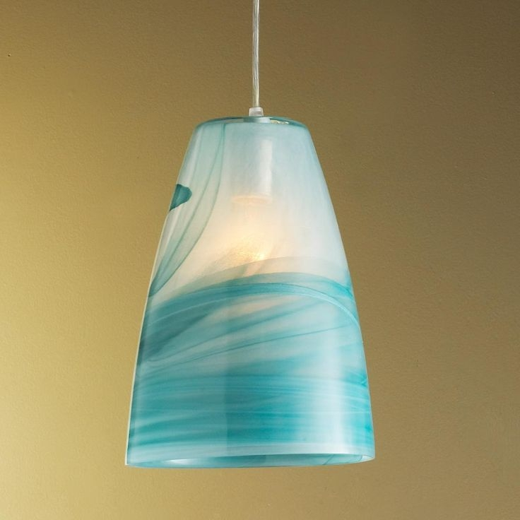 Fantastic Wellliked Blue Pendant Light Shades Pertaining To 105 Best Sea Glass Lighting Images On Pinterest (Image 11 of 25)