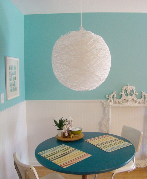 Fantastic Wellliked Diy Yarn Pendant Lights Throughout Diy Stringy Ball Pendant Lamp Say Yessay Yes (Image 9 of 25)