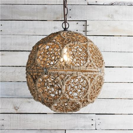 Fantastic Wellliked Macrame Pendant Lights For Macrame Jute Sphere Pendant Small Lights Garage Apartments (Image 11 of 25)